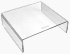 DESQ® Acryl Monitor verhoger | Hoogwaardig Acryl | Max. 15kg | Helder transparant