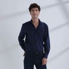Heren Overhemd Donkerblauw MT 42 - Baurotti Lange Mouw Regular fit