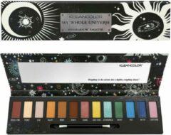 Beige Kleancolor My Whole Universe Eyeshadow Palette - 13 Shades + Mirror & Applicator - ES191