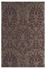 Beige Morris & Co - Laagpolig vloerkleed Morris & Co Autumn Flowers Plum 27500 - 140x200 cm