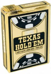 Goudkleurige Cartamundi Copag - Plastic Pokerkaarten - Texas Hold'em Gold - Jumbo Index - Black