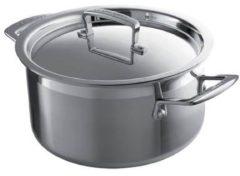Le Creuset RVS Lage kookpan 5L - 20cm Zilver