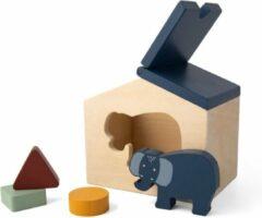 Blauwe Trixie Houten dierenhuis   Mr. Elephant   animal house   speelgoed