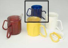 Adhome Beker met 2 aanpasbare handvatten Medeci® Cup 340 ml - blauw transparant