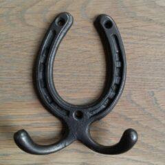 Kapstok-haken.nl Set van 5 kapstokhaken grijs Hoefijzer