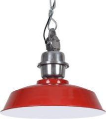 Collectione Hanglamp Sesto 42 cm 1 Lichts Glans Rood Industrieel