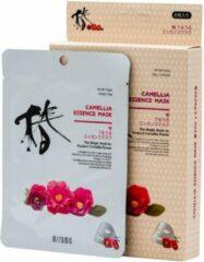 Witte Mitomo Japan Mitomo™ Camellia Gezichtsmasker - Anti Aging Face Mask - Gezichtsverzorging Masker