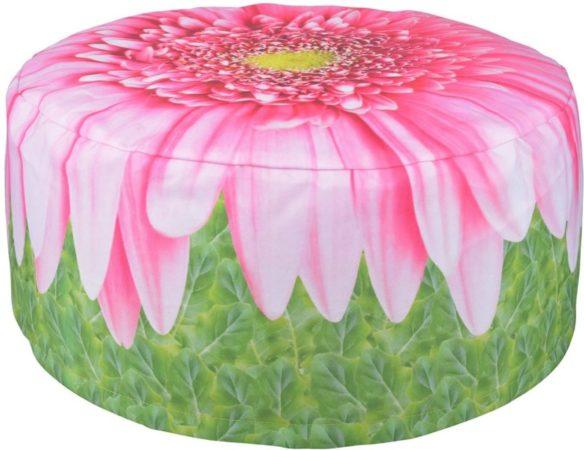 Afbeelding van Esschert Design Opblaasbare tuinpoef Gerbera Daisy 58 cm BK015