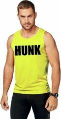 Shoppartners Neon geel sport shirt/ singlet Hunk heren 2XL