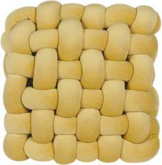 Gele Beliani Sirali Sierkussen Fluweel 30 X 30 Cm