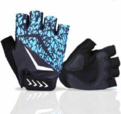 Blauwe HANDT Bike sporthandschoenen - Blue - XL
