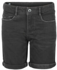 Antraciet-grijze Jill & Mitch by Shoeby slim fit jeans bermuda Pablo antraciet