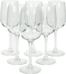 Transparante 6x Stuks wijnglazen voor witte wijn 280 ml - Versailles - Wijn glazen