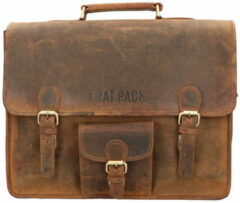 Leather Design The Rat Pack A4 Messenger Schoudertas 15.6'' Garry Bruin