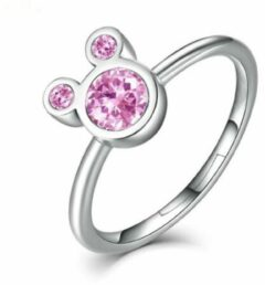 Yada Ring Mickey Mouse - Roze - Verstelbaar