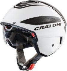 CRATONI 111103C1 Fahrradhelm Vigor (S-Pedalec) Gr. S (54-55cm), weiß/anthrazit/glanz (1 Stück)