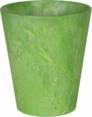 Groene Artstone Bloempot Claire Lime ø 12cm H13