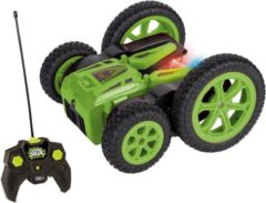 Happy People RC Power Stunt 27 MHz 15 cm groen