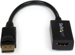 Zwarte StarTech.com DisplayPort naar HDMI Video Adapter Converter