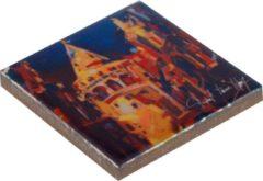 Blauwe Biggdesign Istanbul thema drievoudige magneetset, Limited Edition Design, 5x5 cm, doos, vierkante keramische magneet