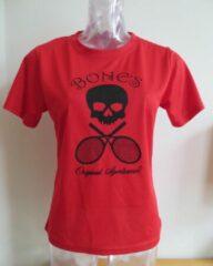 Bones Sportswear Shirt rood logo