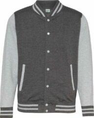 Grijze AWDis College jacket, Charcoal/ Heather Grey Maat L