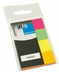 Info Notes Info Page Markers papier Neon - 20x50mm, 4 kleuren a 50 vel