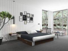 Silversleep Wasserbett mit Stauraumsockel, 200 x 220 cm, Mono - System, wenge, schwach beruhigt