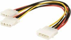 Zwarte Brauch Molex naar 2x Molex Splitter Kabel