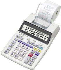 Bureaurekenmachine met printer Sharp EL-1750V Wit Aantal displayposities: 12 werkt op batterijen, werkt op het lichtnet (optioneel)