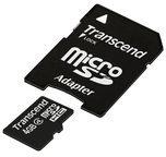 Transcend Information Transcend Flash-Speicherkarte (microSDHC/SD-Adapter inbegriffen) TS4GUSDHC4