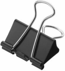 Papierklem Westcott zwart - 32mm metaal doos a 12 stuks