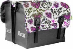 Paarse Beck Classic Love Dubbele Fietstas 46 Liter