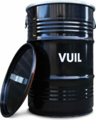 Zwarte BinBin Handle Vuil industriële prullenbak afvalscheiding 60 Liter olievat met handvat deksel