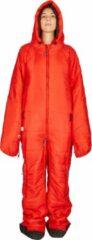 Rode Hygger Nanuk Fiery Red L - Originele slaapzak met mouwen en pijpen, met zijn 3M Thinsulate-vulling is hij warm, lichtgewicht en klein om makkelijk op te rollen