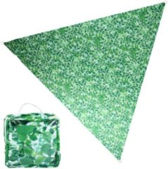 Groene Esschert Design Zonnescherm met bladerenprint
