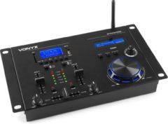 Zwarte DJ mengpaneel - Vonyx STM3400 - 2 kanaals DJ mixer met o.a. scratch jogwheel, Bluetooth, mp3 speler en digital sound processor