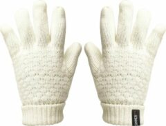 Witte SINNER Zion Knitted Wintersporthandschoenen Dames - Maat M/L