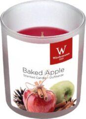 Rode Trend Candles 1x Geurkaarsen gebakken appel in glazen houder 25 branduren - Geurkaarsen gebakken appelgeur/appeltaart geur - Woondecoraties