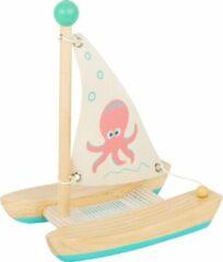 Blauwe Small Foot Company Small Foot Catamaran Octopus Junior 19 Cm Hout/textiel Naturel