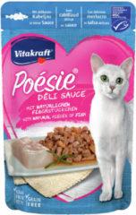 Vitakraft Poesie Deli Sauce Pouch 85 g - Kattenvoer - Kabeljauw