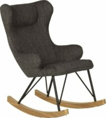 Zwarte Quax Kinder-schommelstoel - Rocking Kids Chair De Luxe - Black