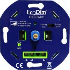 Blauwe Ecodim Universele LED dimmer 0-300 Watt Fase aan- en afsnijding