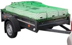 Groene VidaXL Aanhangwagennet 1,5x2,7 m PP