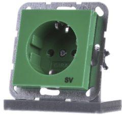 GIRA 045502 Schuko Steckdose SV grün glänzend