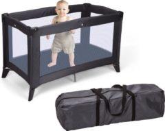 Antraciet-grijze Tom Home&Styling Home&Styling Babybed met matras inklapbaar donkergrijs