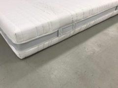 Witte Bedworld Collection 160x200 x25 cm. Micropocket Koudschuim HR55 Stevig