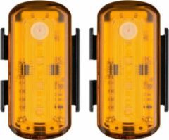 Zwarte Blackburn Grid Side Beacon USB 85 Lumen 2 Stuks
