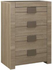 Gamillo Furniture Ladekast Moka 117 cm hoog in houtskool eiken