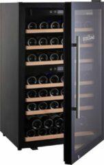 Bruine BODEGA43-66 Vrijstaande Wijnklimaatkast voor 66 flessen